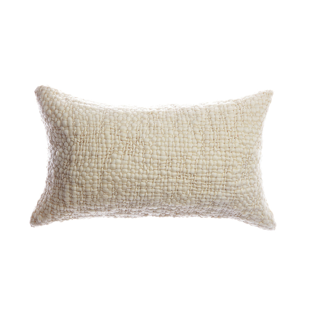 Flame Natural Wool Lumbar Pillow