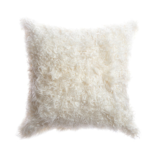 Natural Goat Skin Square Pillow