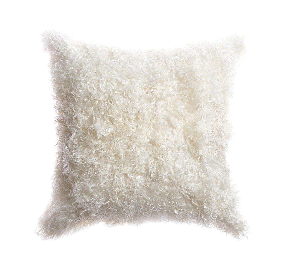 Natural Goat Skin Lumbar Pillow