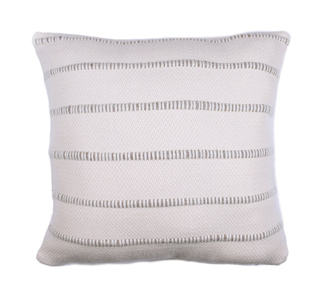 Grey Multi Striped Throw Pillow