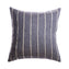 Slate Striped Raw Silk Square Pillow