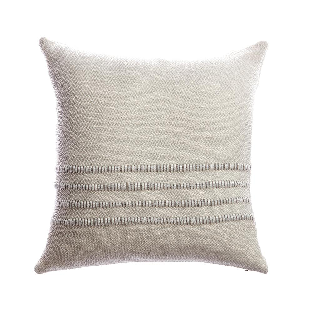 Grey Striped Square Pillow