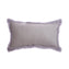 Grey Trim Rabbit Lumbar Pillow
