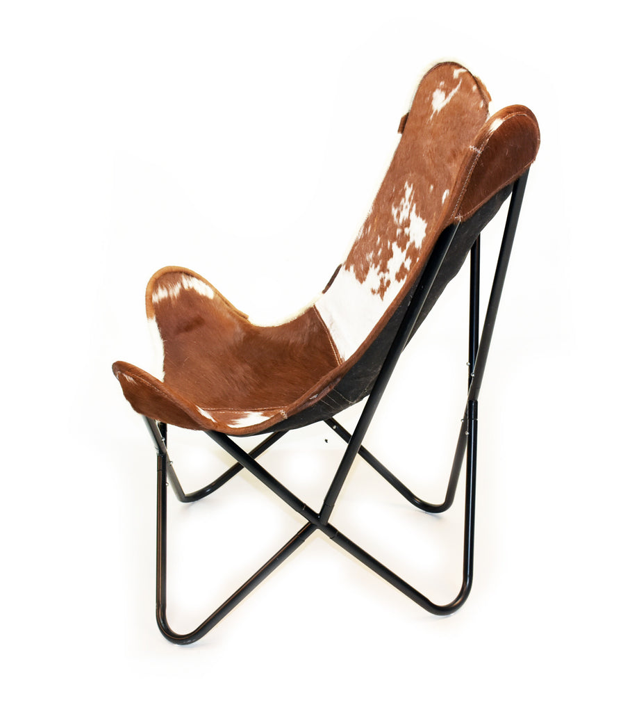 Cowhide butterfly chair - Hereford Hair On Hide Butterfly Chair Homelosophy