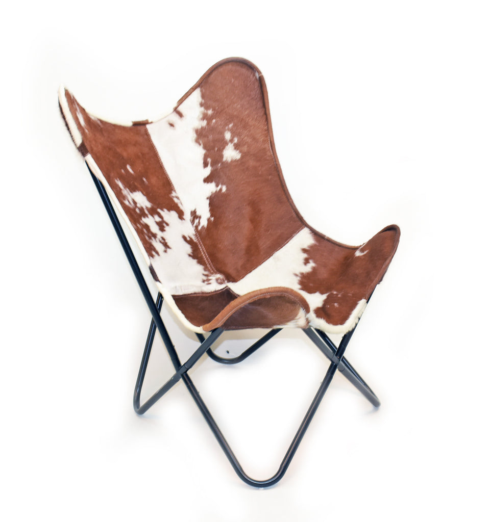 Cowhide butterfly chair - Vhereford Hair On Hide Butterfly Chair