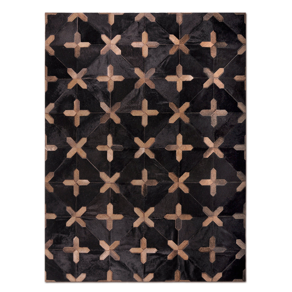 CROSSES - Hair on Hide Rug