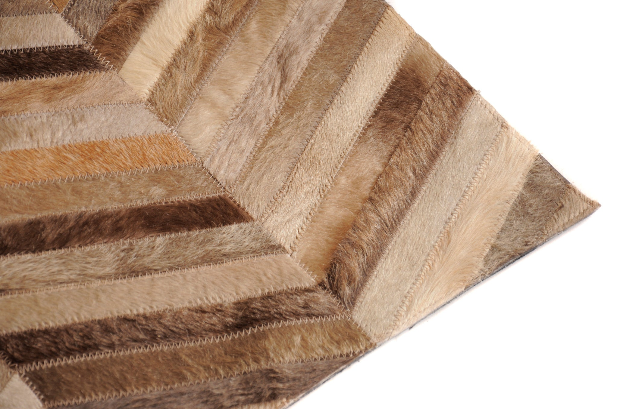 HERRINGBONE LARGE - Hair on Hide Rug