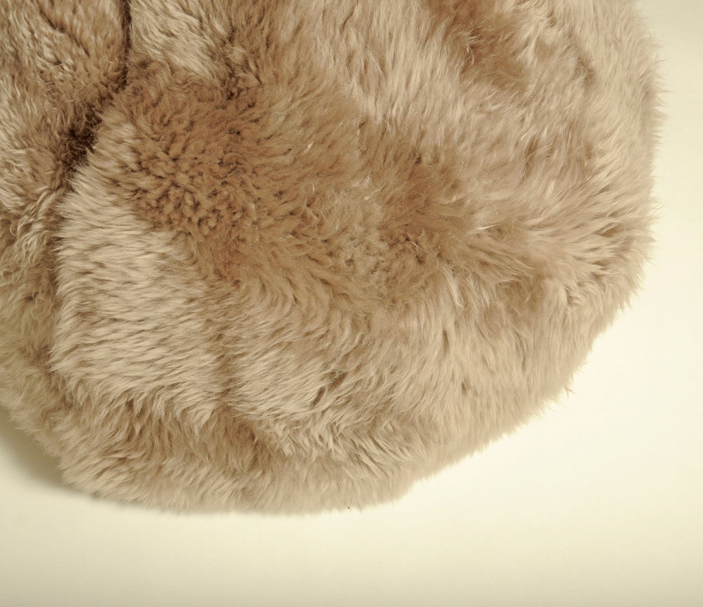 SHEEPSKIN POUF - Long Hair Beige - Homelosophy