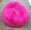 SHEEPSKIN POUF - Long Hair Fuchsia