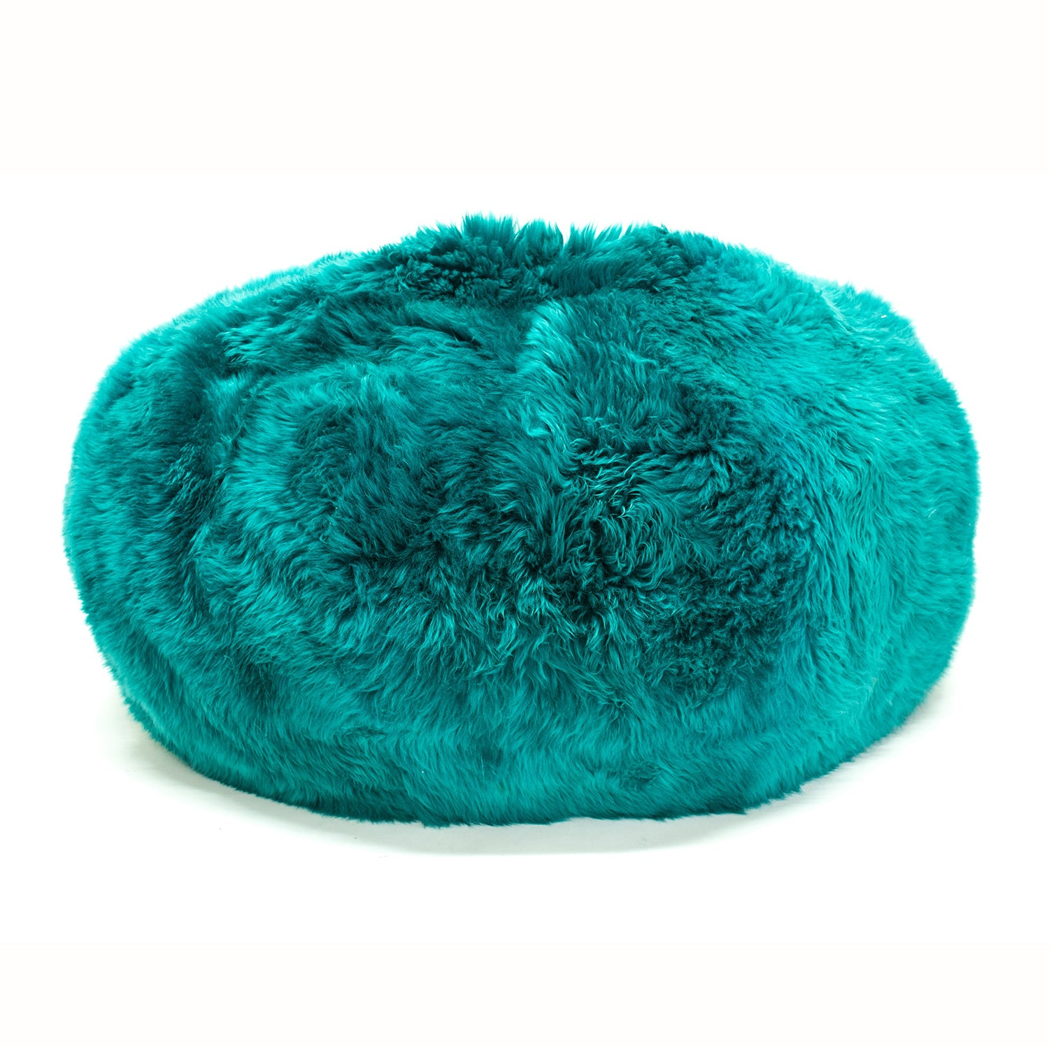 SHEEPSKIN POUF - Long Hair Jade