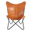 SADDLE - Leather Butterfly Chair