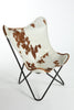 HOLSTEIN BROWN & WHITE - Hair on Hide Lounge Chair