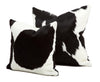 Holstein Cowhide Pillow - Black & White - Hair on Hide | Homelosophy
