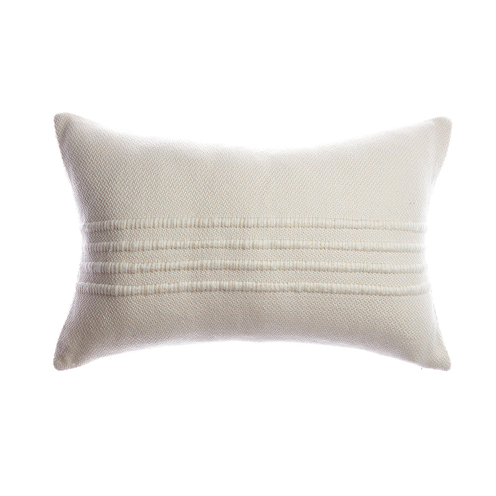 Ivory Striped Square Pillow