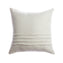 Ivory Striped Lumbar Pillow