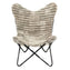 THICK STRIPES LIGHT GREY - Shearling Butterfly Chair