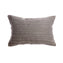 Luxe Grey Silk Lumbar Pillow