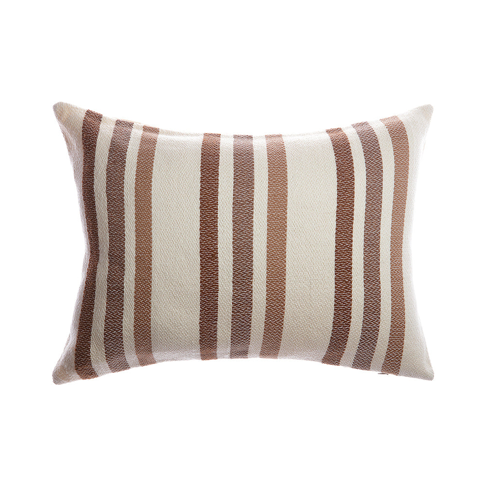 Marlene Square Wool Pillow - Brownie