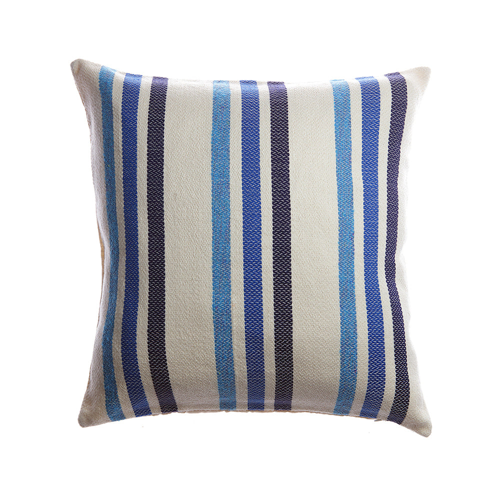 Marlene Lumbar Wool Pillow - Blue
