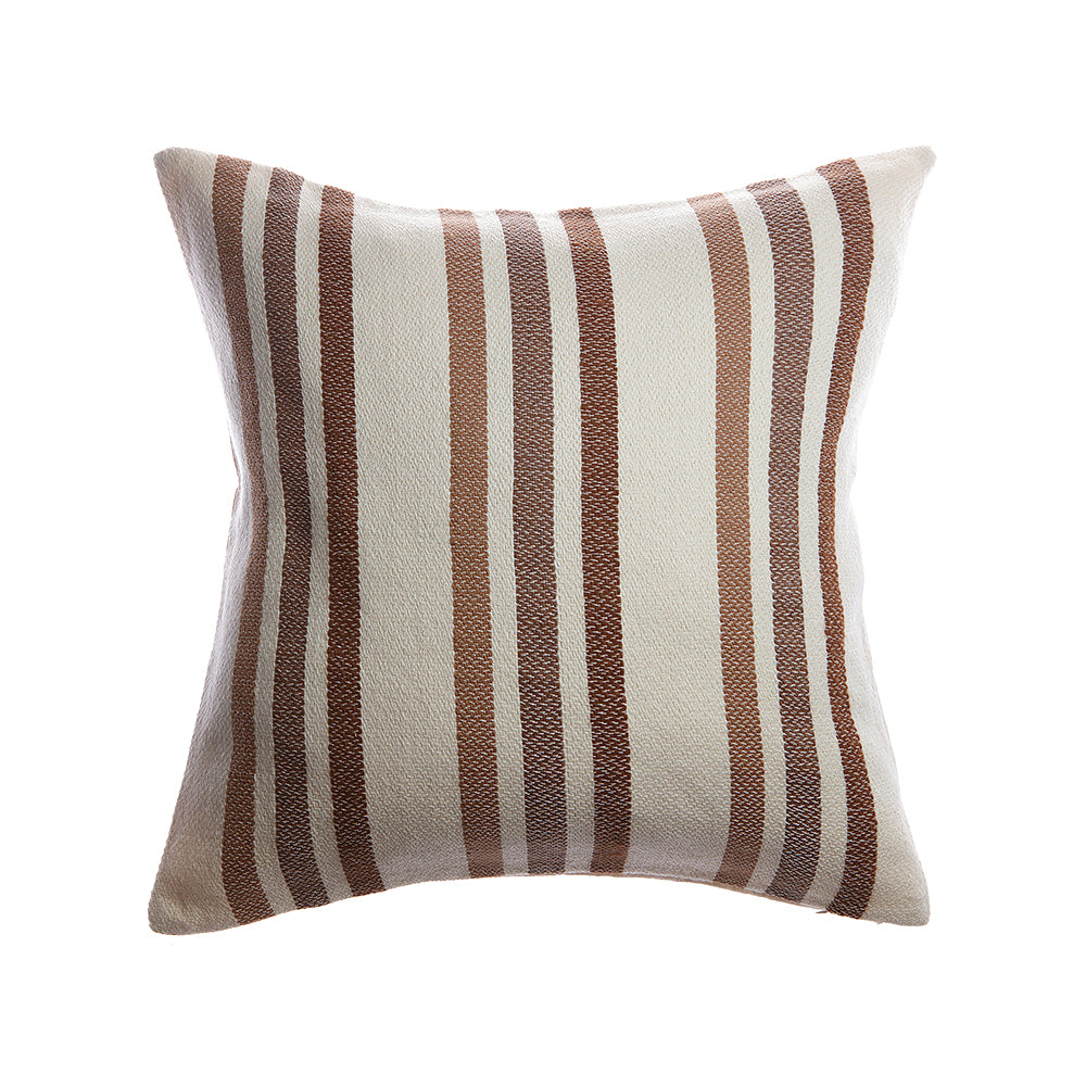 Marlene Lumbar Wool Pillow - Brownie