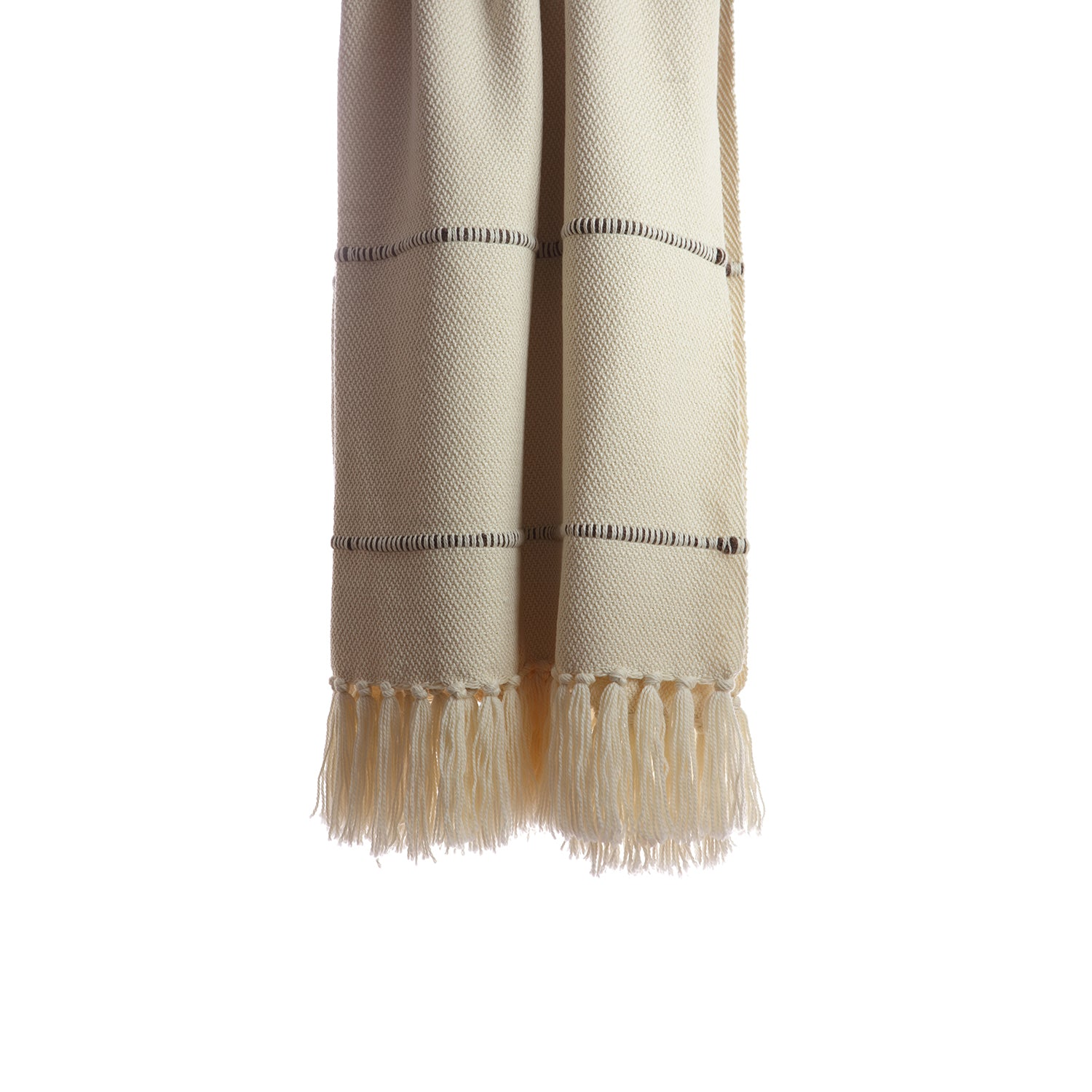 Multi Brown Striped Throw Blanket