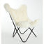 NATURAL IVORY - Curly Goatskin Butterfly Chair
