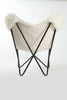 NATURAL IVORY - Sheepskin Butterfly Chair