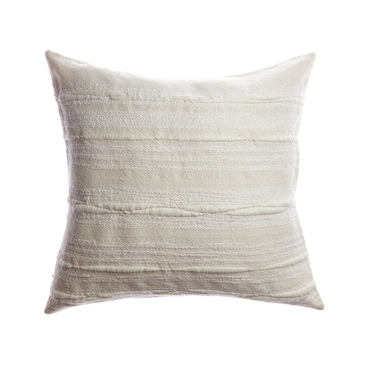 Natural Striped Touch Square Pillow