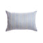 Pale Striped Raw Silk Lumbar Pillow