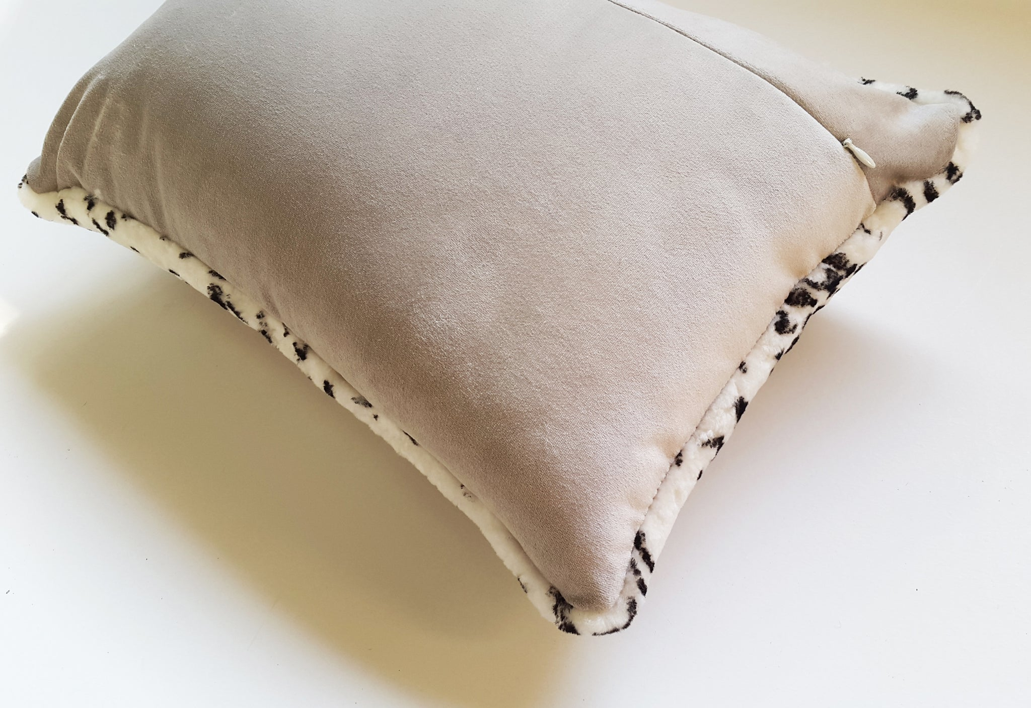 Shearling Leopard Lumbar Pillow