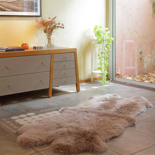 Quad Sheepskin Rug - Grey Stone  -  (3.5´ x 6.5´ )