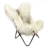 RAW IVORY - Long Hair Goatskin hardoy Chair