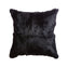 Rabbit Skin Small Lumbar Pillow - Deep Black