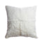 Rabbit Skin Square Pillow - Natural Ivory