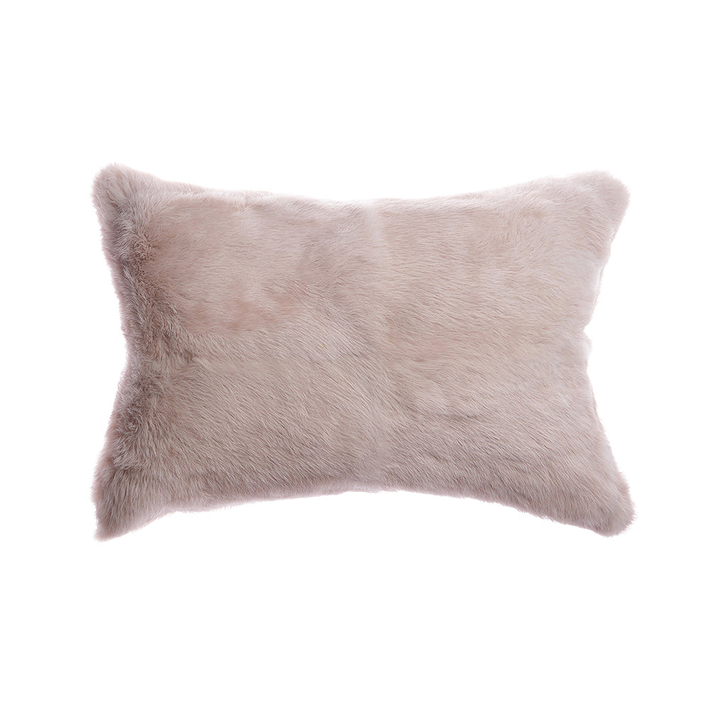 Rabbit Skin Lumbar Pillow - Nude