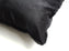Rabbit Skin Square Pillow - Deep Black