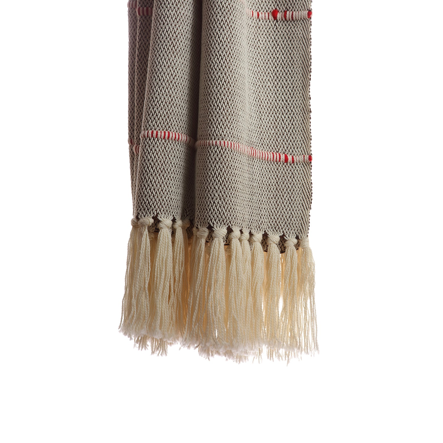 Melange Red Striped - Decorative Throw