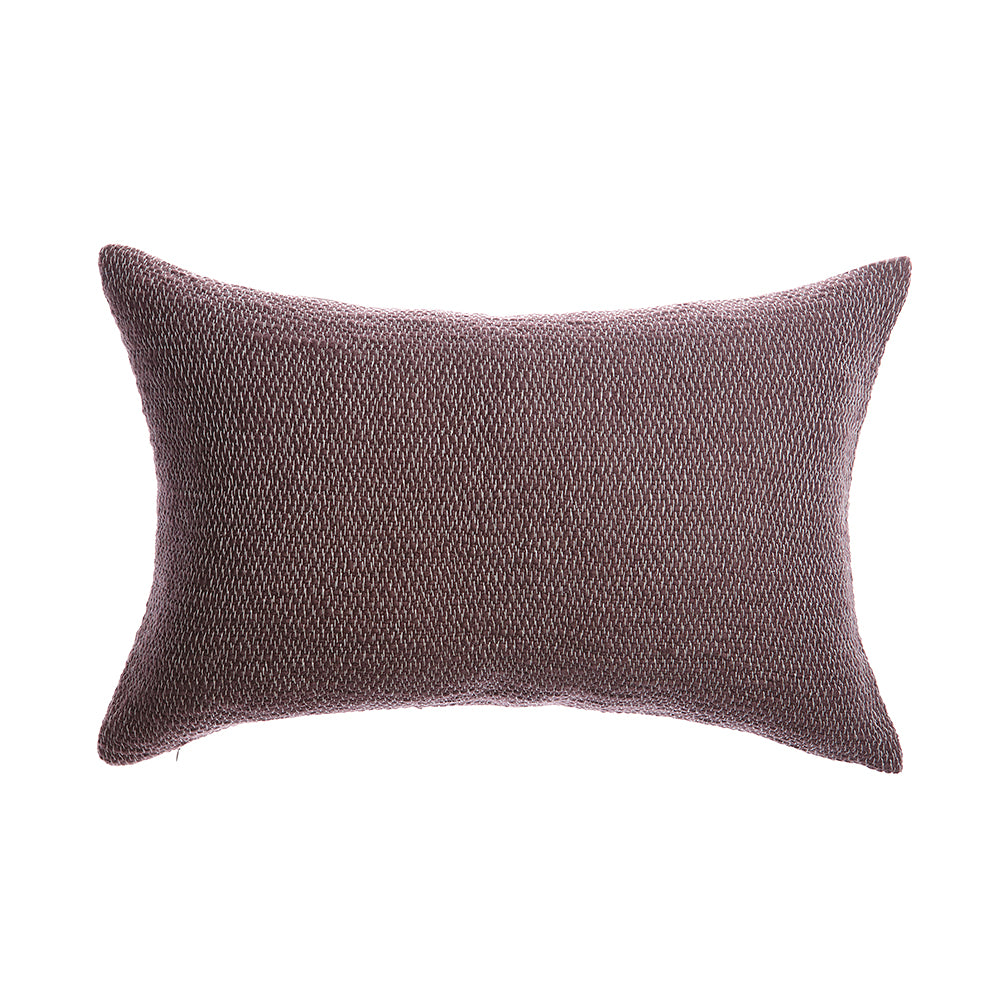 Rustic Cotton Choco Lumbar Pillow