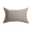 Rustic Cotton Grey Lumbar Pillow