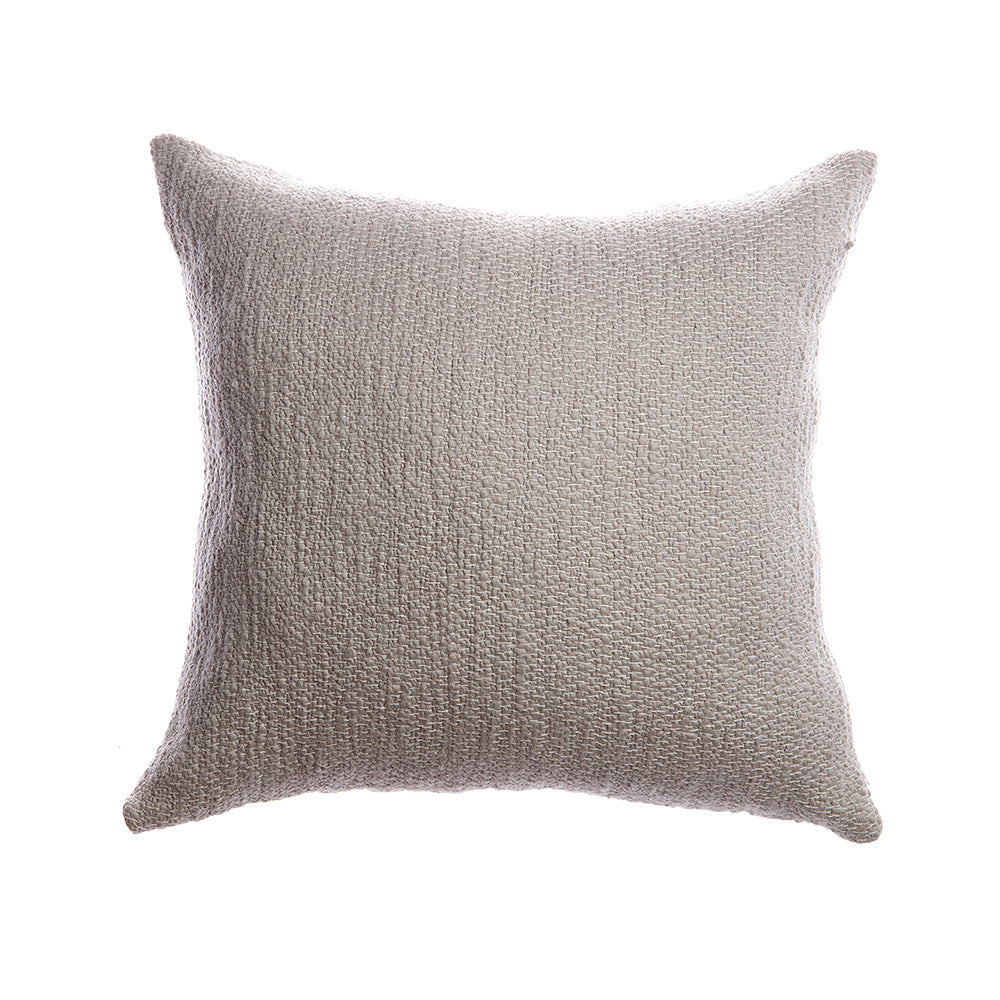 Rustic Cotton Grey Square Pillow