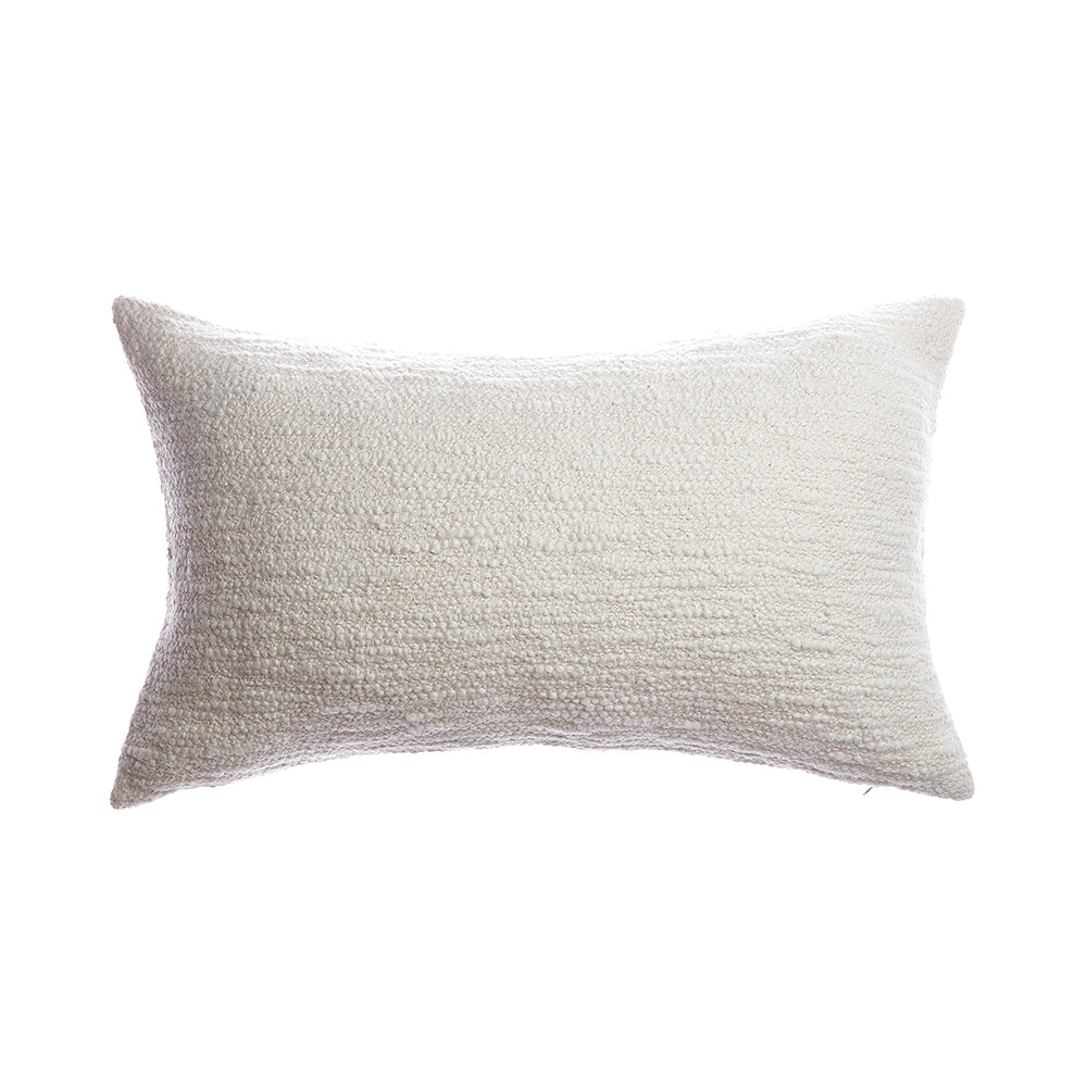 Rustic Cotton Special Ivory Lumbar Pillow