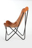 SADDLE - Leather Butterfly Chair - HOMELOSOPHY