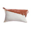 Saddle Leather Fringes Square Pillow