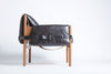 Safari Lounge Leather Chair - Black - Homelosophy