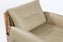 Safari  Leather Lounge Chair - Sandstorm