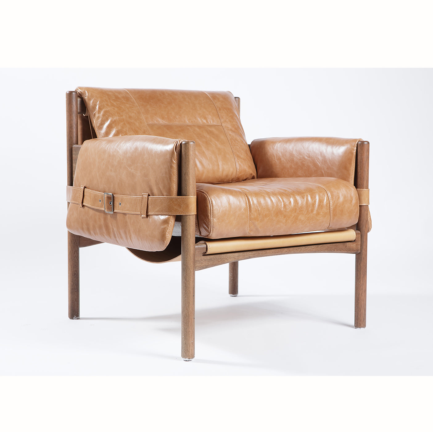 Safari Leather Lounge Chair - Sunset
