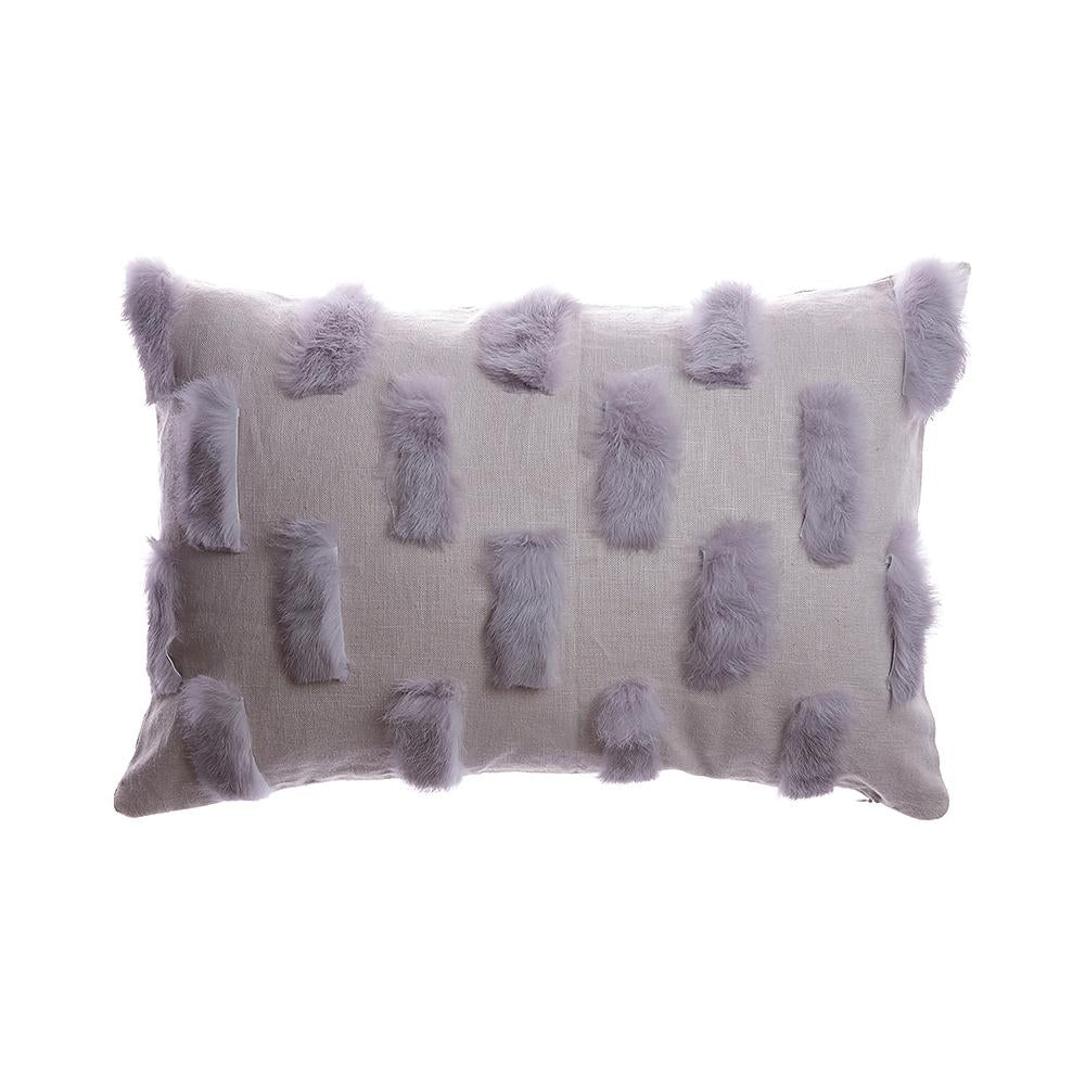 Salpicon Grey Rabbit Square Pillow