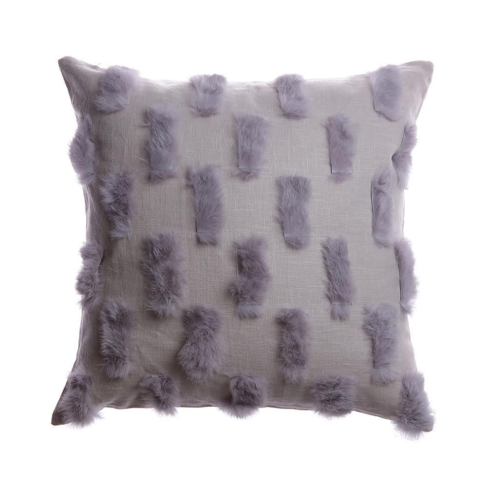 Salpicon Grey Rabbit Lumbar Pillow