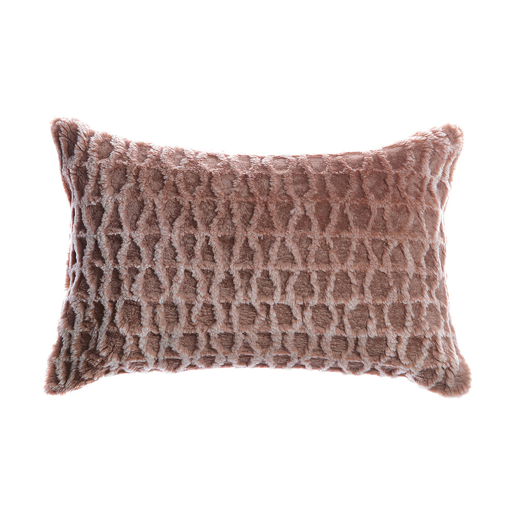 Shearling Amanda Grey Melange Lumbar Pillow