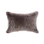 Shearling Charcoal Melange Lumbar Pillow